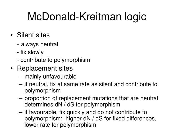 McDonald-Kreitman logic
