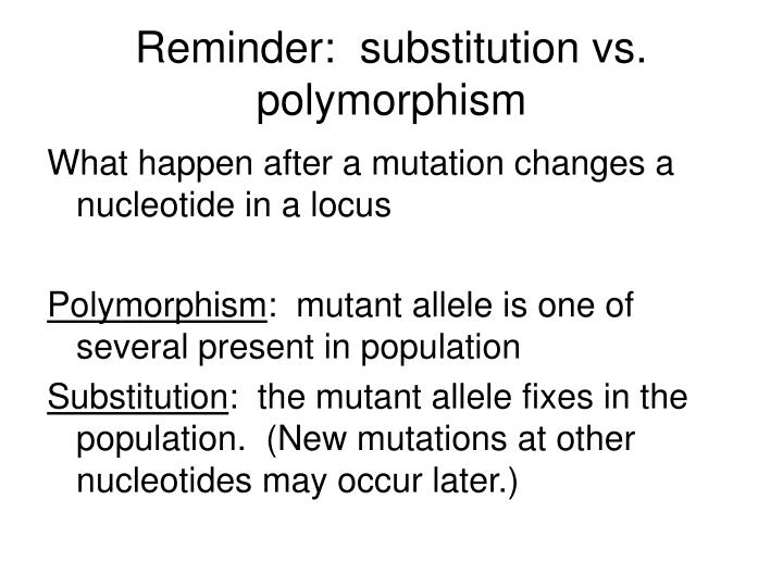 Reminder substitution vs polymorphism