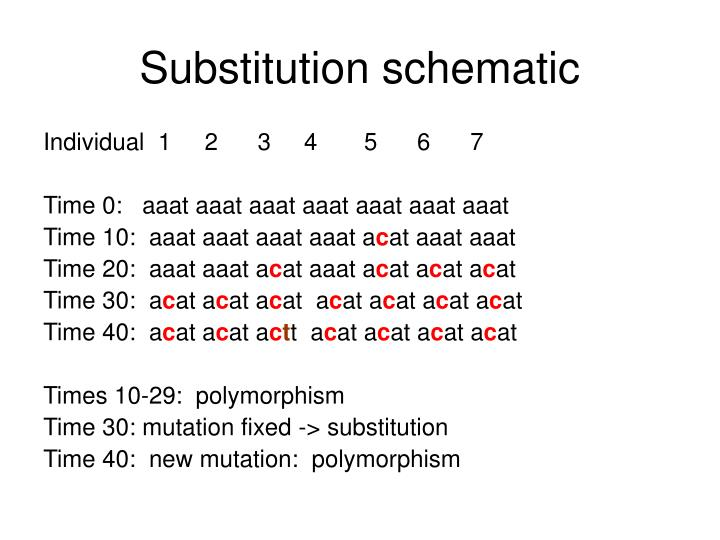 Substitution schematic