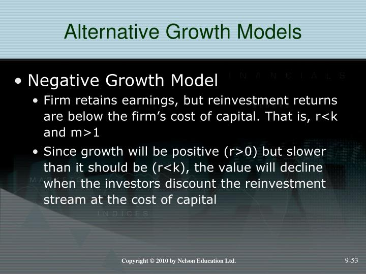 Alternative Growth Models