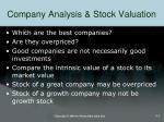company analysis stock valuation1