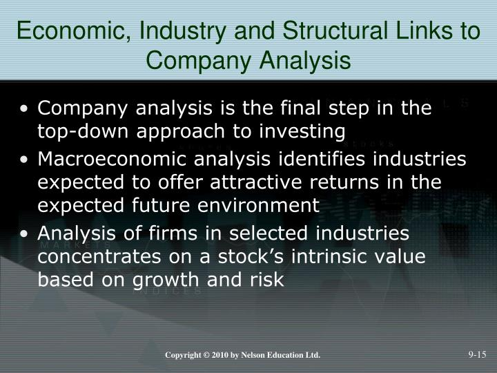 Economic, Industry and Structural Links to Company Analysis