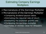 estimating company earnings multipliers