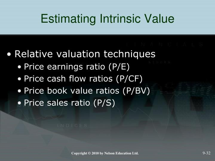 Estimating Intrinsic Value