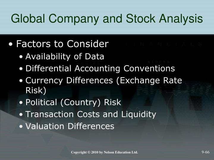 Global Company and Stock Analysis