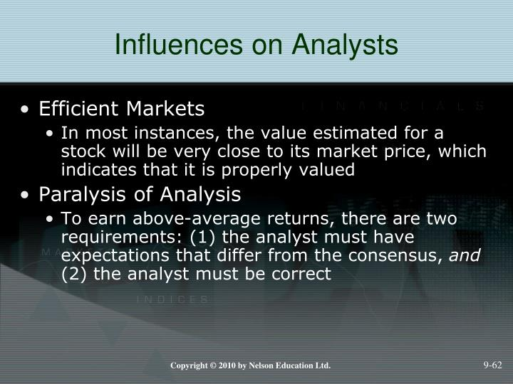 Influences on Analysts