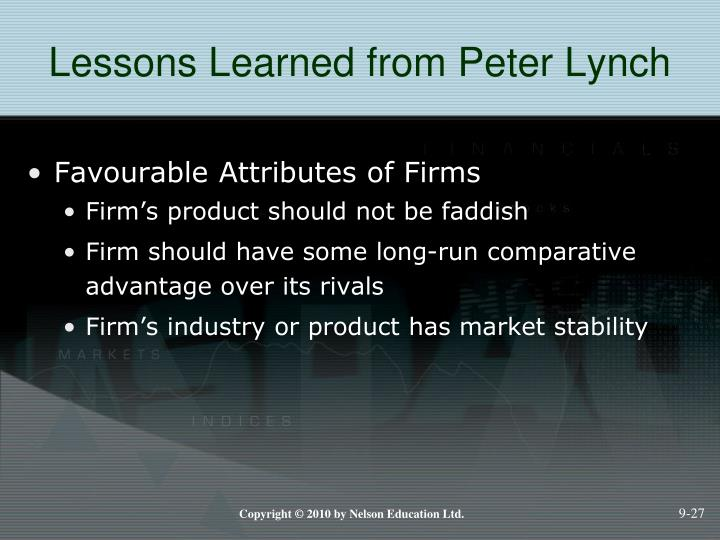 Lessons Learned from Peter Lynch