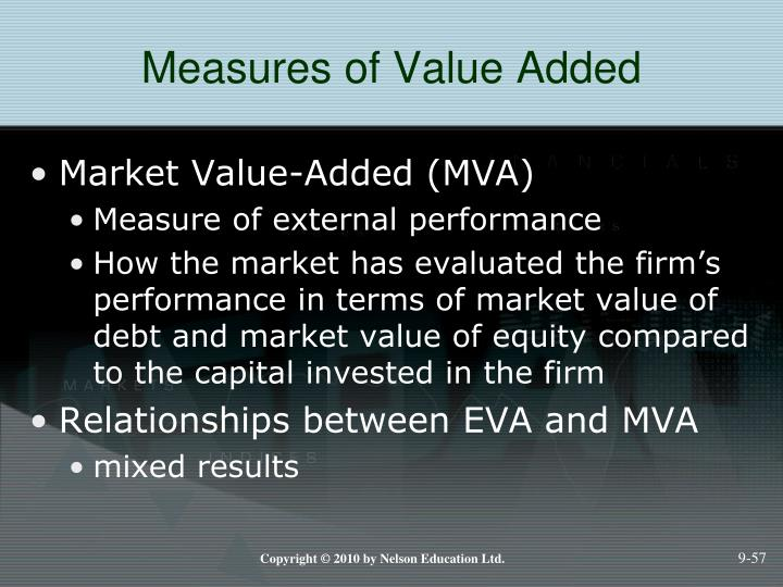 Measures of Value Added