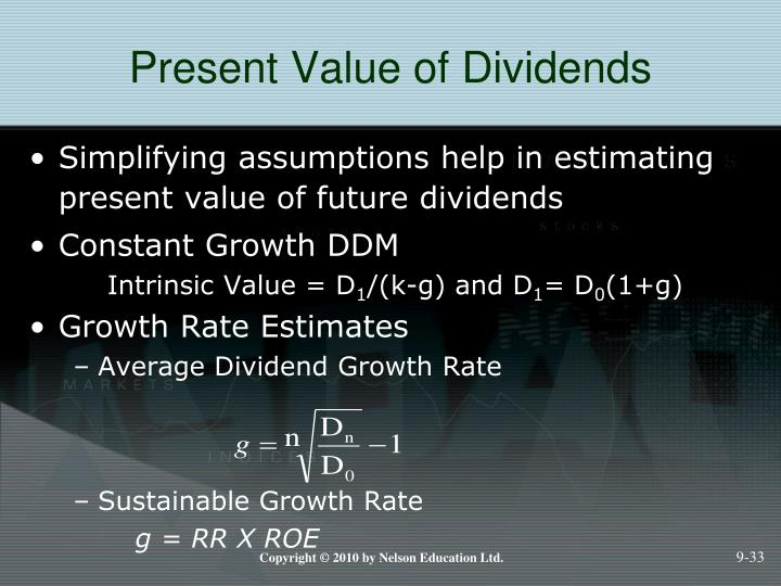 Present Value of Dividends