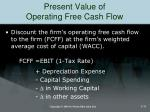 present value of operating free cash flow