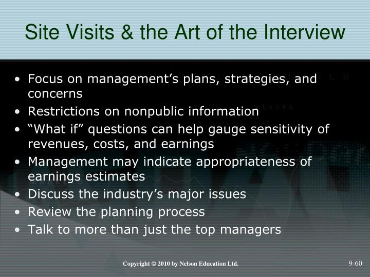 Site Visits & the Art of the Interview