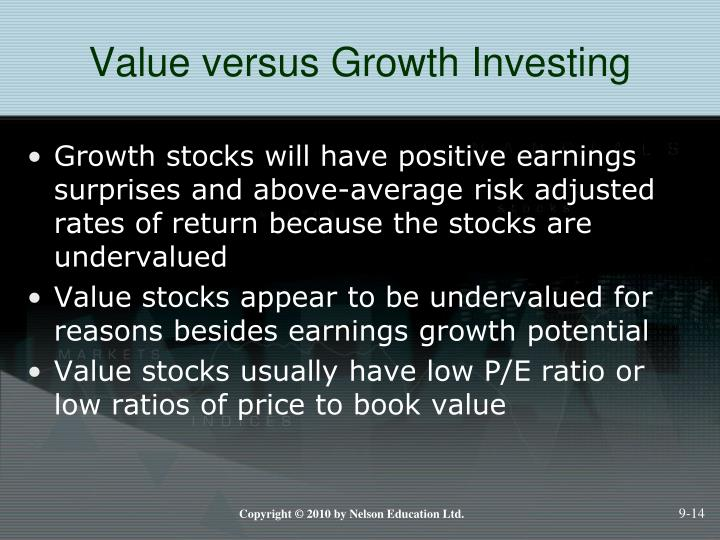 Value versus Growth Investing