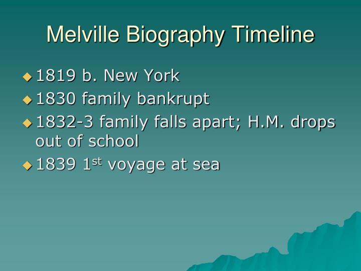 Melville Biography Timeline