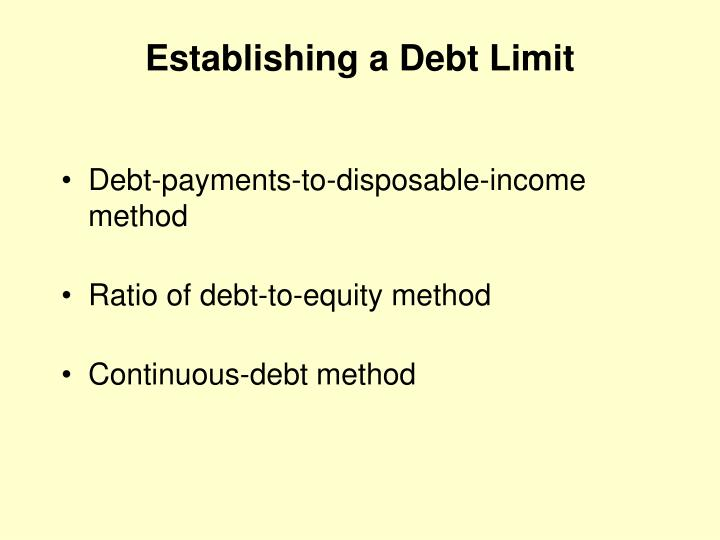 Establishing a Debt Limit