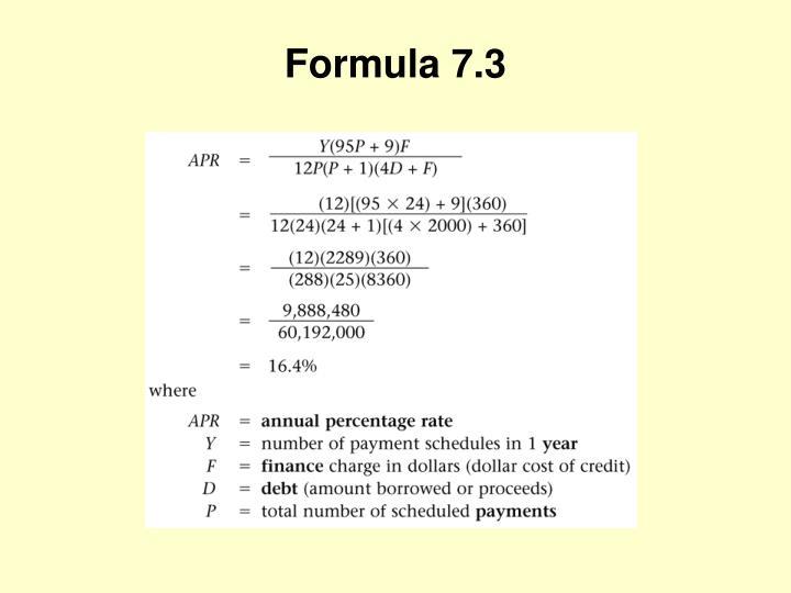 Formula 7.3
