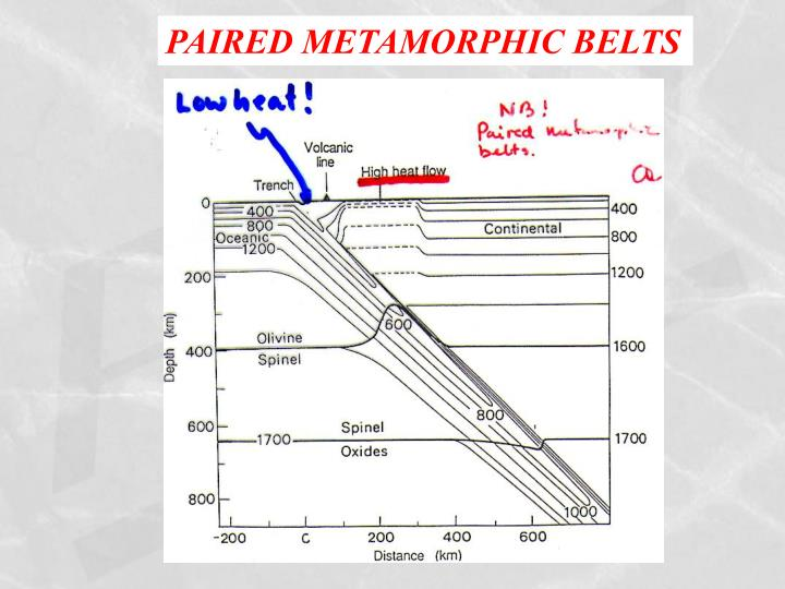 PAIRED METAMORPHIC BELTS