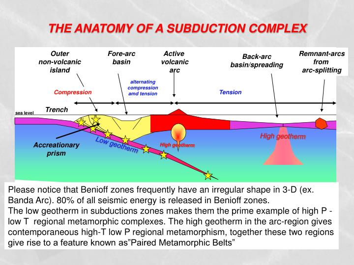 THE ANATOMY OF A SUBDUCTION COMPLEX