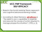 ucc pmp framework self efficacy