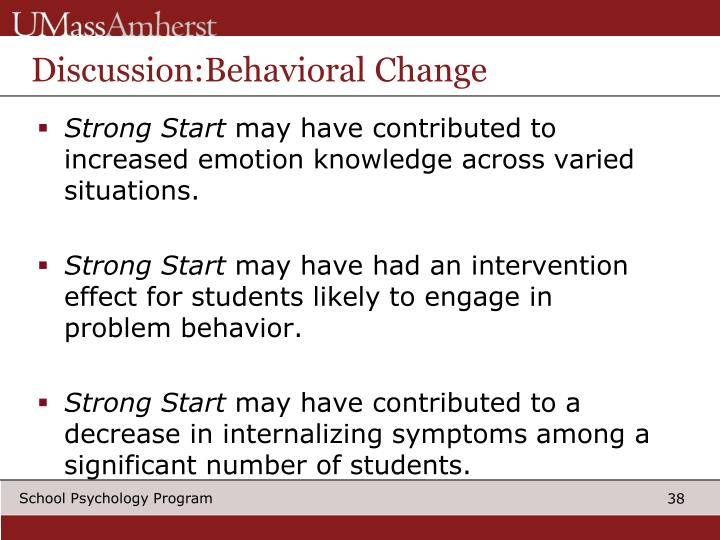 Discussion:Behavioral Change