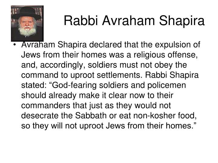 Rabbi Avraham Shapira