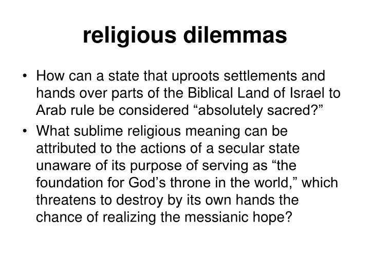 religious dilemmas