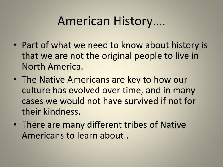 American History….