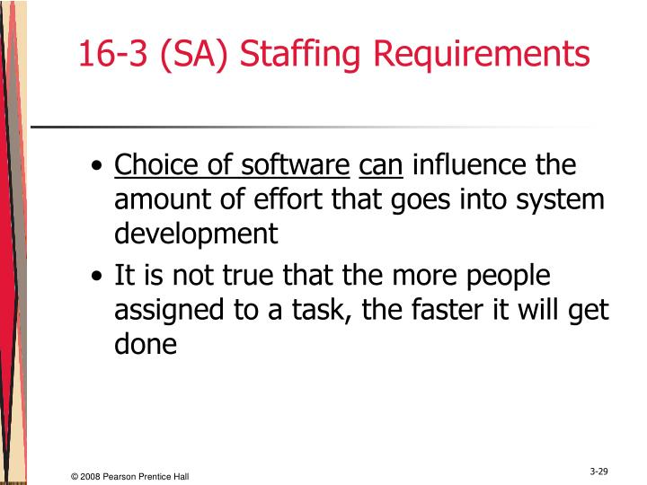16-3 (SA) Staffing Requirements