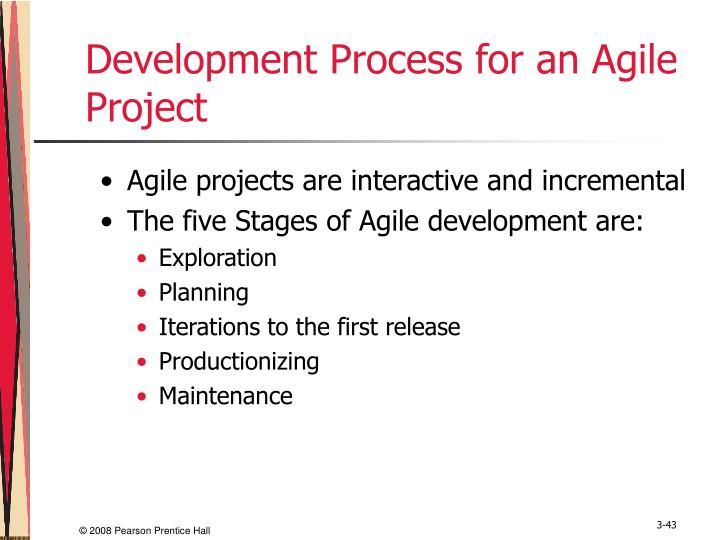 Development Process for an Agile Project