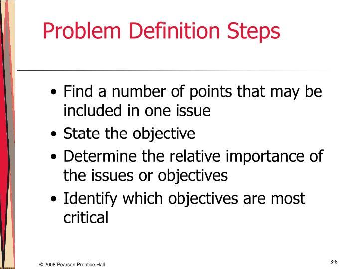 Problem Definition Steps