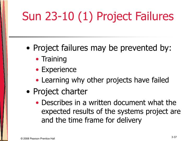 Sun 23-10 (1) Project Failures