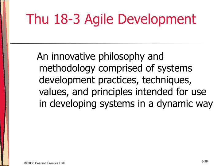 Thu 18-3 Agile Development