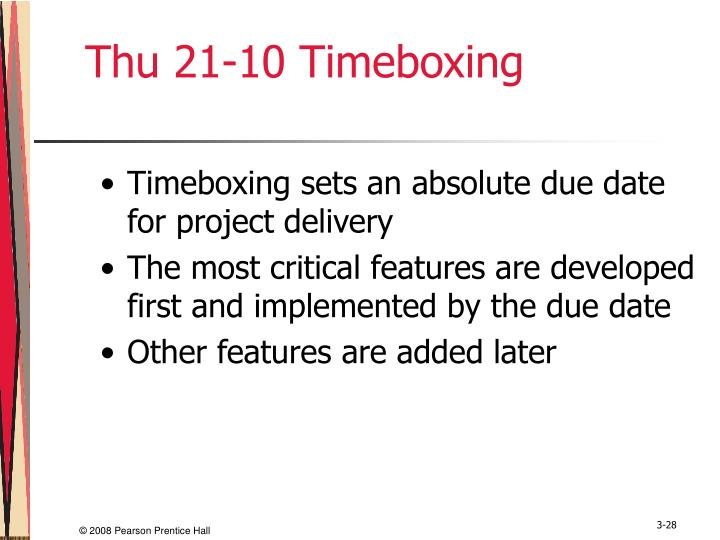 Thu 21-10 Timeboxing