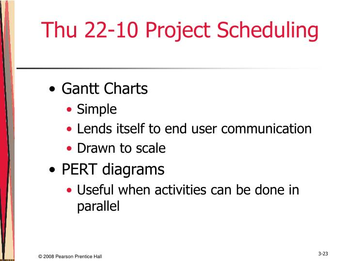 Thu 22-10 Project Scheduling