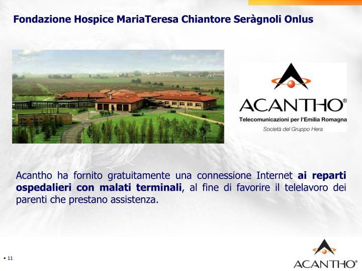Fondazione Hospice MariaTeresa Chiantore Seràgnoli Onlus
