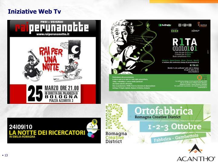 Iniziative Web Tv
