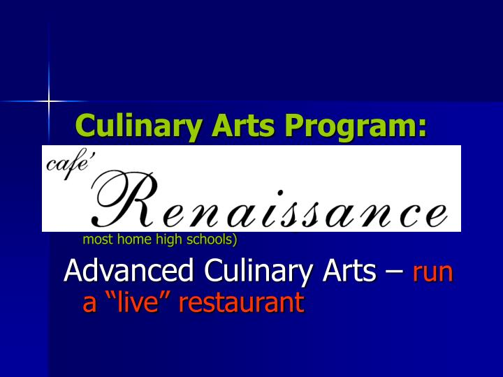 Culinary Arts Program: