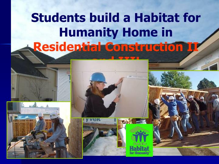 Students build a Habitat for Humanity Home in