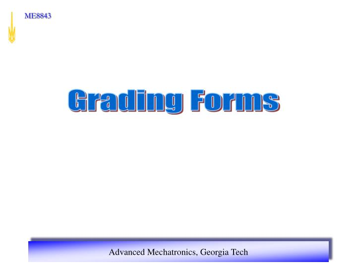 Grading Forms