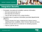 integration benefits