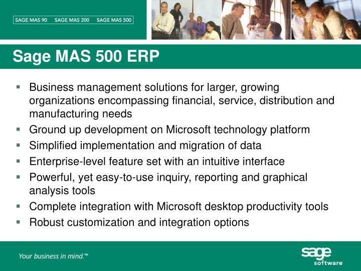 Sage MAS 500 ERP