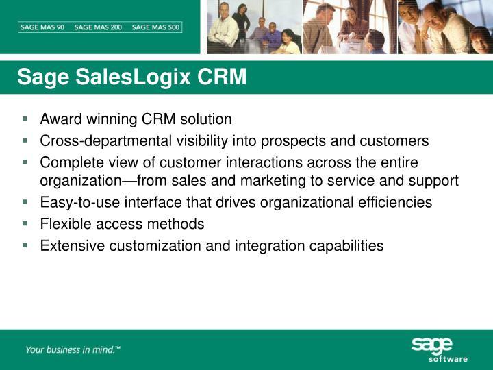Sage SalesLogix CRM