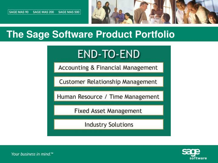 The Sage Software Product Portfolio