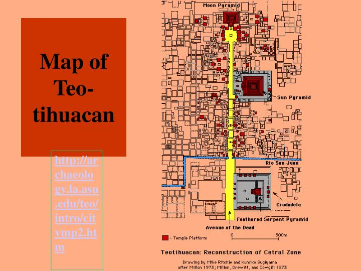 Map of Teo-tihuacan