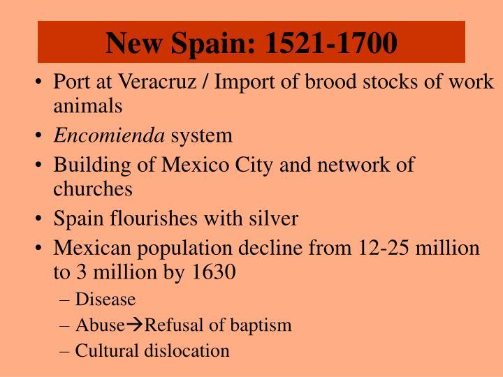 New Spain: 1521-1700