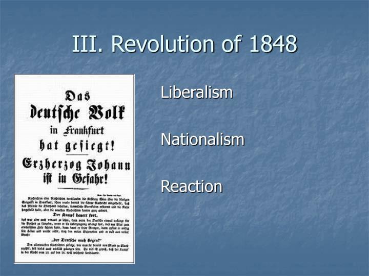III. Revolution of 1848