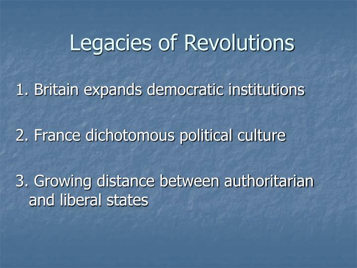 Legacies of Revolutions
