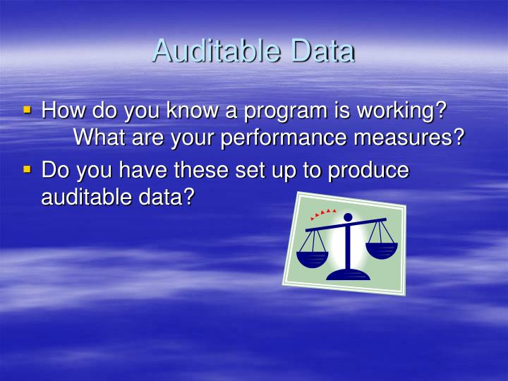 Auditable Data