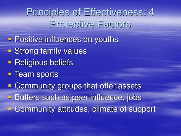 Principles of Effectiveness: 4