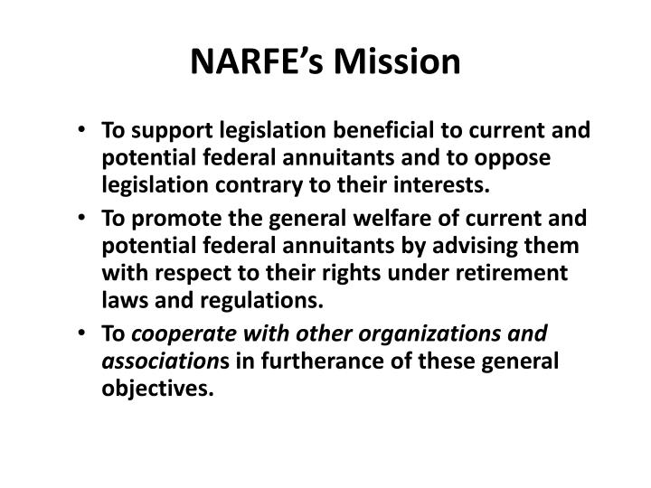 NARFE's Mission