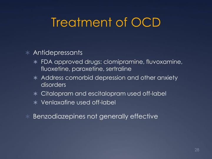 Treatment of OCD